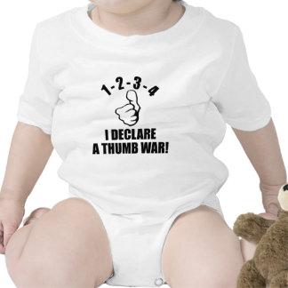1-2-3-4 I Declare A Thumb War B-W Baby Creeper
