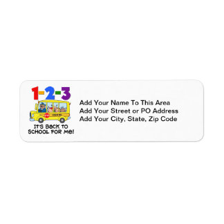 1-2-3 Back to School Return Address Label