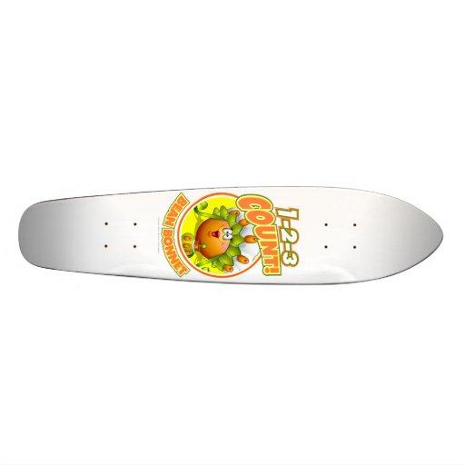 1-2-3 Count Bean Bonnet Skate Board Decks
