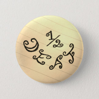 1/2 Deaf 2 Inch Round Button