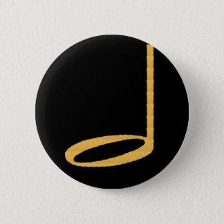 1/2 Half Note 2 Inch Round Button