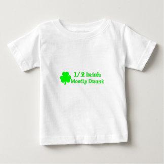 1/2 Irish Mostly Drunk Baby T-Shirt