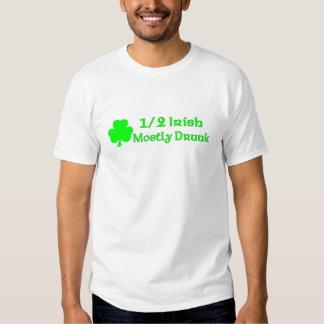 1/2 Irish Mostly Drunk Tees