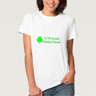 1/2 Irish Mostly Drunk Tshirts