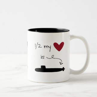 1/2 my heart is on a Submarine mug