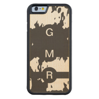 1, 2 or 3 Abstract Monogrammed iPhone 6 Wood Case