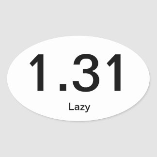 1.31 Lazy Oval Sticker