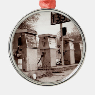 $1.33 For Gas Please Silver-Colored Round Ornament