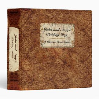 """1.5"""" Burgundy Vintage Wedding Album 3 Ring Binders"""