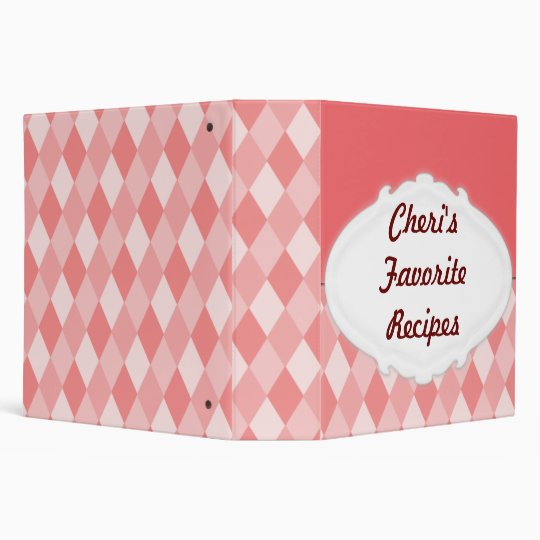 "1.5"" Customizable Recipe Binder"