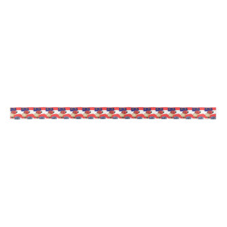 1.5 inch Satin Ribbon Roll-U.S.A. Red/White & Blue