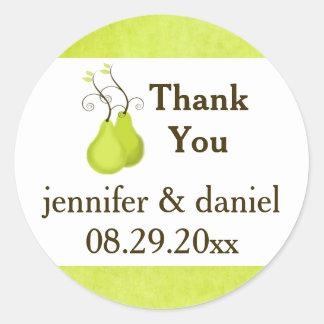 "1.5"" Wedding Favor Sticker | Perfect Pair"