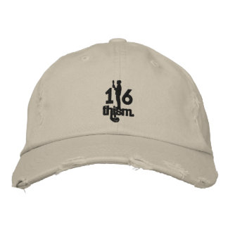 1/6thism_logo_01 embroidered baseball cap