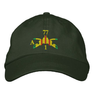 1/77th Armor Branch Insignia and Call-Sign Hat Embroidered Baseball Cap