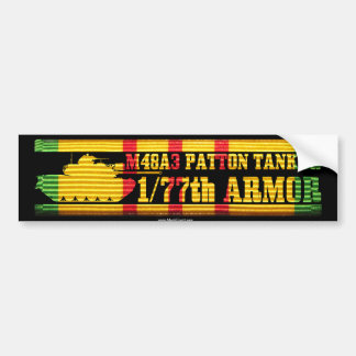 1/77th Armor M48A3 Tanker VSR Bumper Sticker