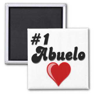 #1 Abuelo Grandparents Day Gifts Magnet