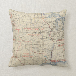 1 Accessions of territory Throw Pillow