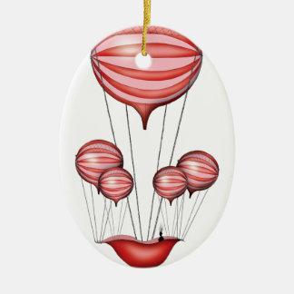 1) alone - tony fernandes ceramic oval ornament