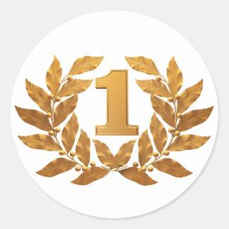 №1, award round sticker