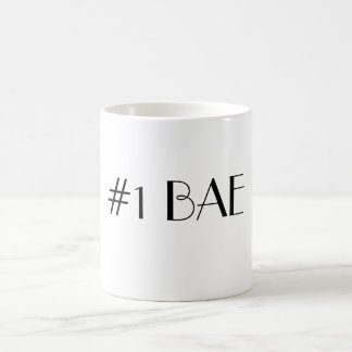 #1 BAE NUMBER ONE BAE Parisian Font Coffee Mug