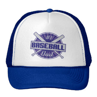 #1 Baseball Dad Trucker Hat