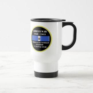 1 BATTLE STAR KOREAN WAR VETERAN COFFEE MUG