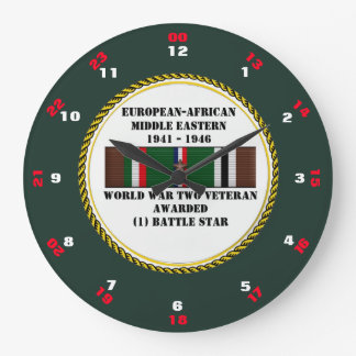 1 BATTLE STAR WWII VETERAN CLOCKS