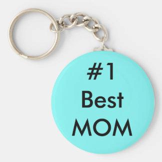 #1 Best MOm Basic Round Button Keychain