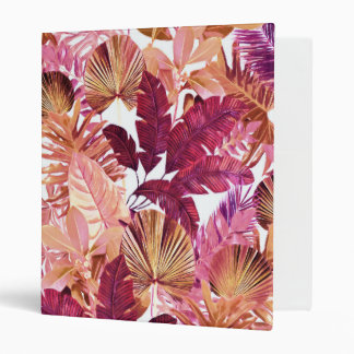 "1"" Binder with Pink Tropical Pattern"
