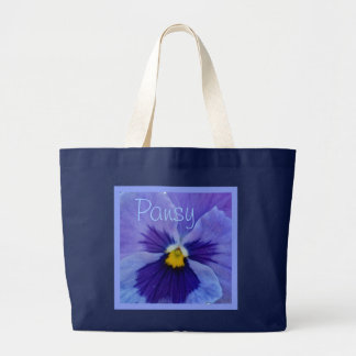 1 Blue Beauty Pansy Large Tote Bag