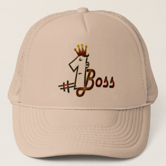 # 1 boss cool text design hat