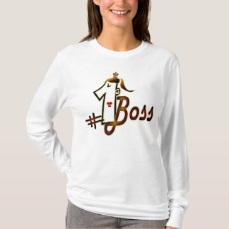 # 1 boss cool text design t-shirt for ladies