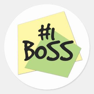 #1 Boss Round Sticker