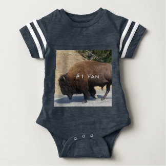 #1 Buffalo Fan Onsie Baby Bodysuit