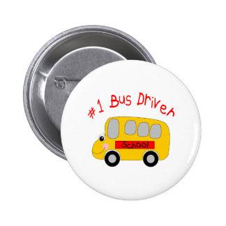 #1 Bus Driver 2 Inch Round Button