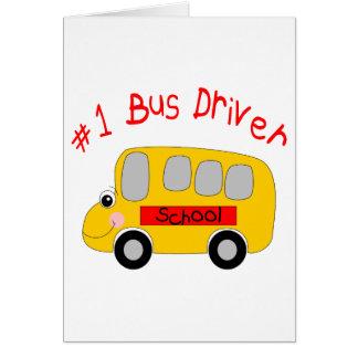 #1 Bus Driver Greeting Card