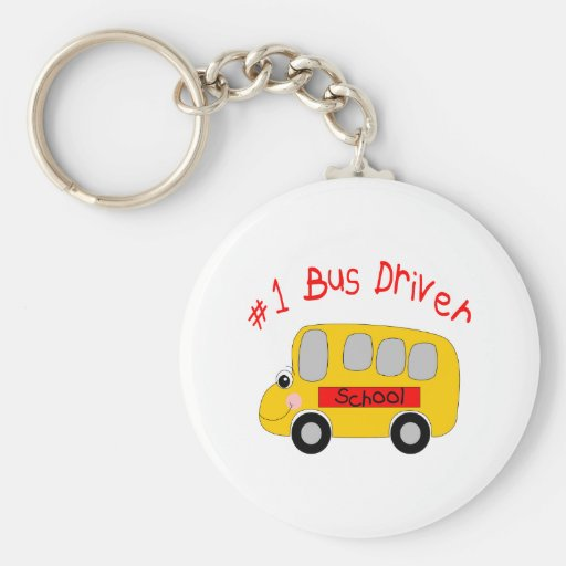 #1 Bus Driver Keychain