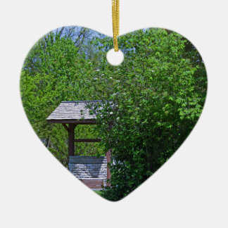1 By the Wishing Well-horizontal.JPG Ceramic Heart Ornament