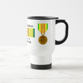 1 CAMPAIGN STAR VIETNAM WAR VETERAN TRAVEL MUG