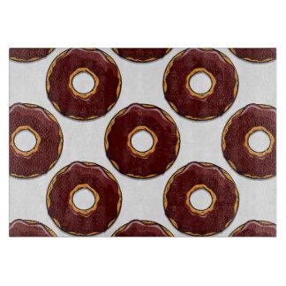1 Cartoon Chocolate Donut Design Cutting Board