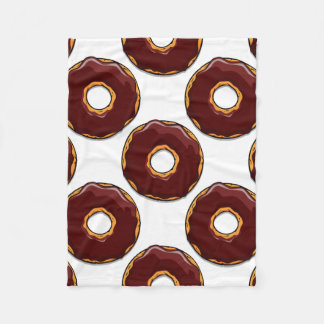 1 Cartoon Chocolate Donut Design Fleece Blanket