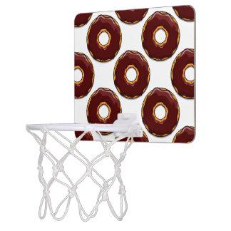 1 Cartoon Chocolate Donut Design Mini Basketball Hoop