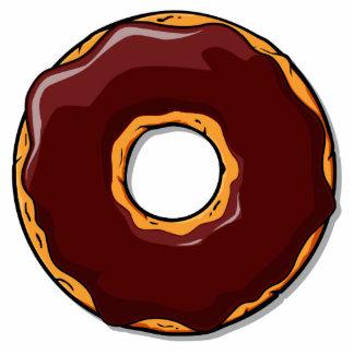 1 Cartoon Chocolate Donut Design Photo Sculpture Magnet