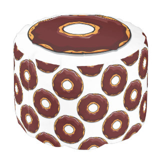 1 Cartoon Chocolate Donut Design Pouf