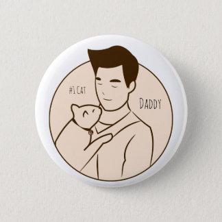 #1 Cat & Daddy 2 Inch Round Button