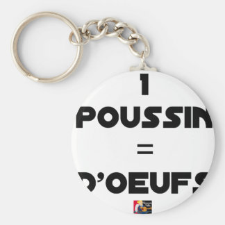 1 CHICK = Of EGGS - Word games - François City Keychain