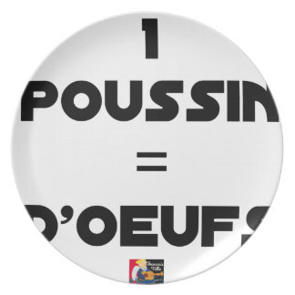 1 CHICK = Of EGGS - Word games - François City Plate