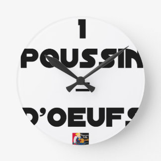 1 CHICK = Of EGGS - Word games - François City Round Clock