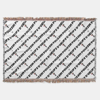 1 CHICK = Of EGGS - Word games - François City Throw Blanket