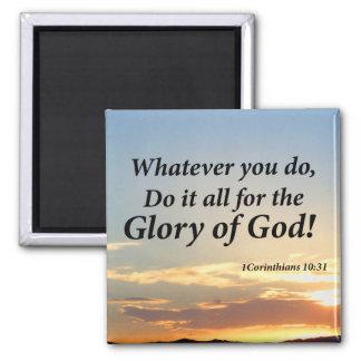 1 Corinthians 10:31 Square Magnet